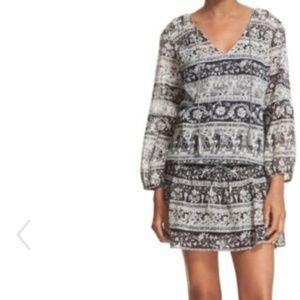 ❌SOLD❌Joie Vork Print Peasant Blouson Dress Sz XS